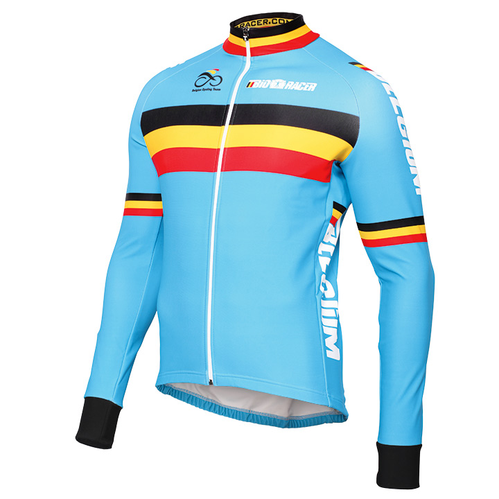 2016 Belgique Team Nationale Maglie Ciclismo Manica Lunga 40787_XC