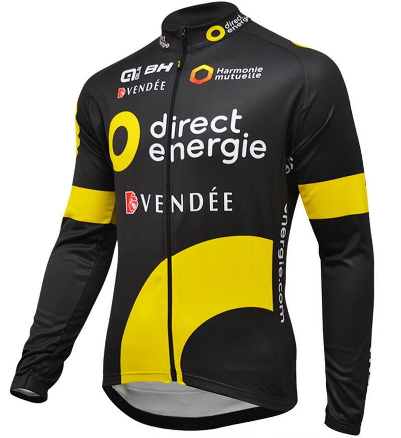 2016 Direct Energie Maglie Ciclismo Manica Lunga 26901_EE