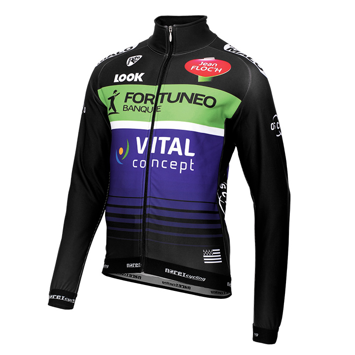 FORTUNEO-VITAL 2016 Team hiver Maglie Ciclismo Manica Lunga 19995_KH