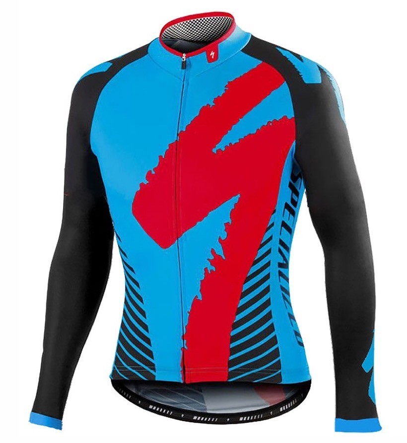 2016 Specialized Team LS nero -blu Maglie Ciclismo Manica Lunga 94006_DT