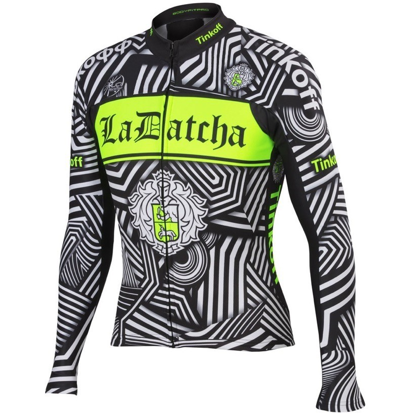 2016 Tinkoff Training nero Maglie Ciclismo Manica Lunga 38821_HH